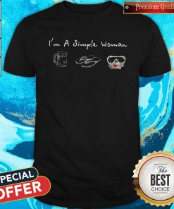 I'm A Simple Woman Loves Beer Flip Flop Swimming Glasses Shirt
