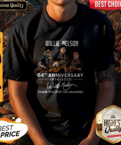 While Nelson 64th Anniversary 1956 2020 Signature Thank You For The Memories Shirt