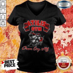 Funny Atilis Gym Ocean City V-neck