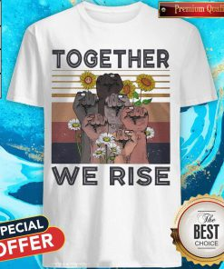Funny Juneteenth Day Together We Rise Sunflowers Black Lives Matter Vintage Retro Shirt