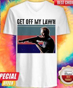 Good Get Off My Lawn Vintage V-neck