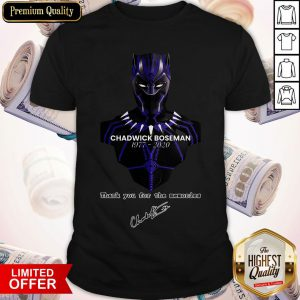 Actor Chadwick Boseman The Black Panther Marvel Shirt
