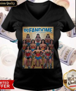 Nice DC Fandome Wonder Woman Through The Years Comic Cover V-neck