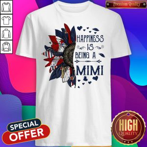 American Flag Sunflower Happiness Is Being A Mimi ShirtAmerican Flag Sunflower Happiness Is Being A Mimi Shirt