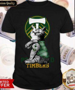 Cat Tattoo I Love Portland Timbers Shirt