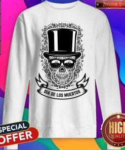 Dia De Los Muertos Gentlemen Sugar Skull Sweatshirt