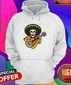 Skeleton Mexican Playing Guitar Day Of The Dead Hoodie