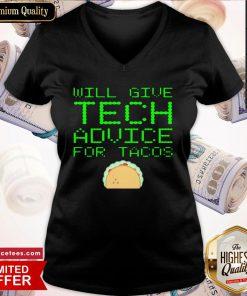 Official Gibt Technische Ratschlge Fr Tacos Computer Geek V-neck