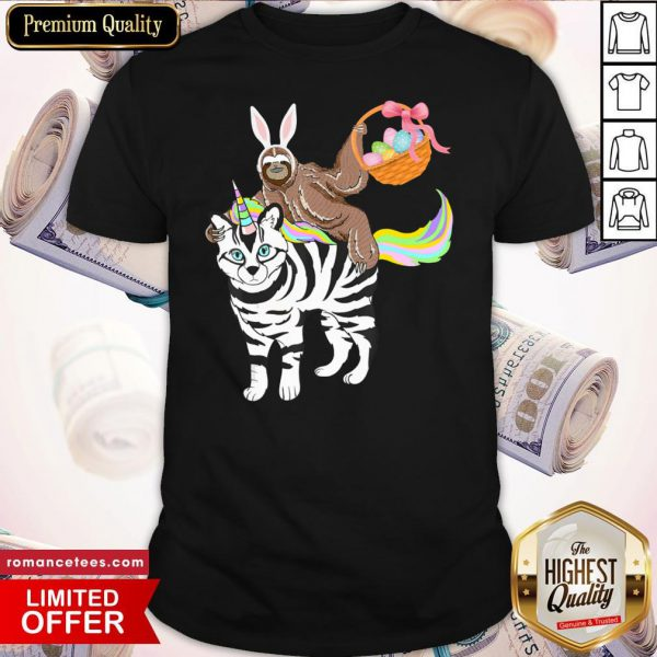 Official Quarantine Egg Basket Easter Sloth Ridin Unicorn Shirt