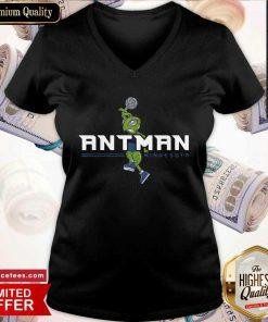 Good Ant Man Minnesota V-neck- Design By Romancetees.com