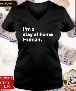 Nice I'm A Stay At Home Human Introvert V-neck- Design By Romancetees.com