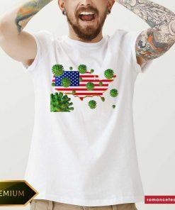 Trump's America Covid-19 Shirt- Design By Romancetees.com