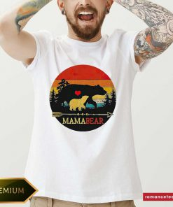 Mama Bear Vintage Sunset Shirt- Design By Romancetees.com