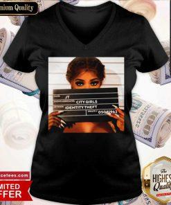 City Girls Jt Mugshot V-neck- Design By Romancetees.com