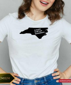 Just A Kid From Goldsboro Nc Map V-neck- Design By Romancetees.com