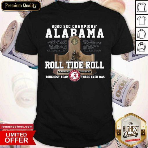 Alabama Crimson 2020 Sec Champions Roll Tide Roll Shirt- Design By Romancetees.com