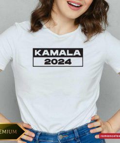 Pro Kamala – I Love Kamala Harris 2024 V Neck- Design By Romancetees.com