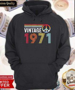 Cool Vintage 1971 Peace Hoodie